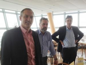 Lars Nydahl, Svante Larsson och Gernod Laufkötter